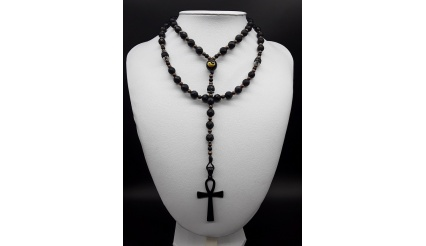 The Catholic Yin and Yang 5 Decade Ankh Rosary