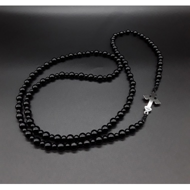 The Black Onyx Rosary Necklace