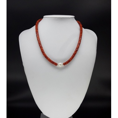 The Red Pearl Choker Necklace