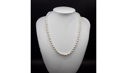 The Pearl Moon Necklace (silver ver)